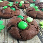 Double Chocolate Mint M&M's Cookies
