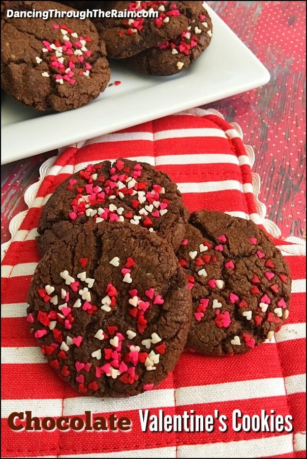 Chocolate Valentine's Day Cookies