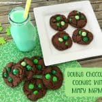 Double Chocolate Cookies With Minty M&M's