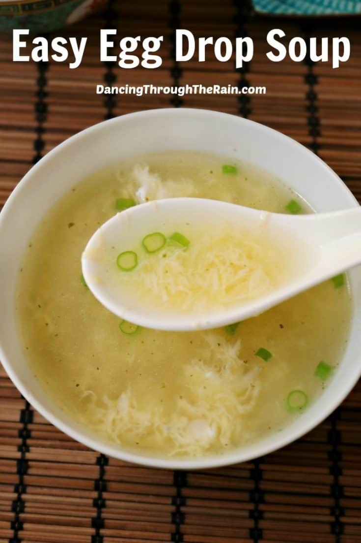 If you've wondered how to make easy egg drop soup, here is the solution! This delicious recipe will take you only a few minutes and truly, anyone can do it!