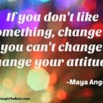 If You Don't Like Something, Change It; If You Can't, Change Your Attitude