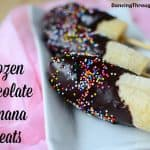 Frozen Chocolate Covered Banana Treats