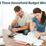 Household Budget Mistakes To Avoid
