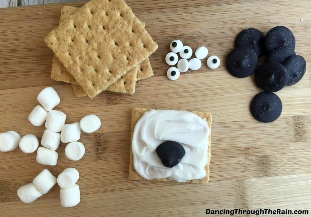 Ingredients for No-Bake Sheep Grahams