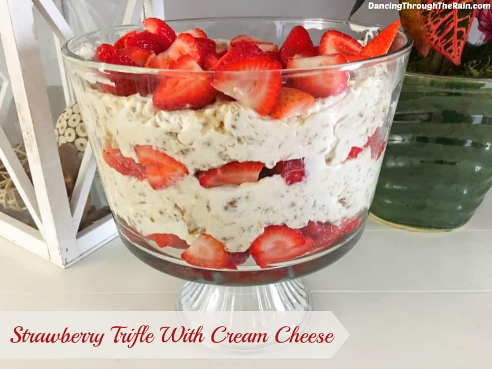 Strawberry Trifle With Cream Cheese