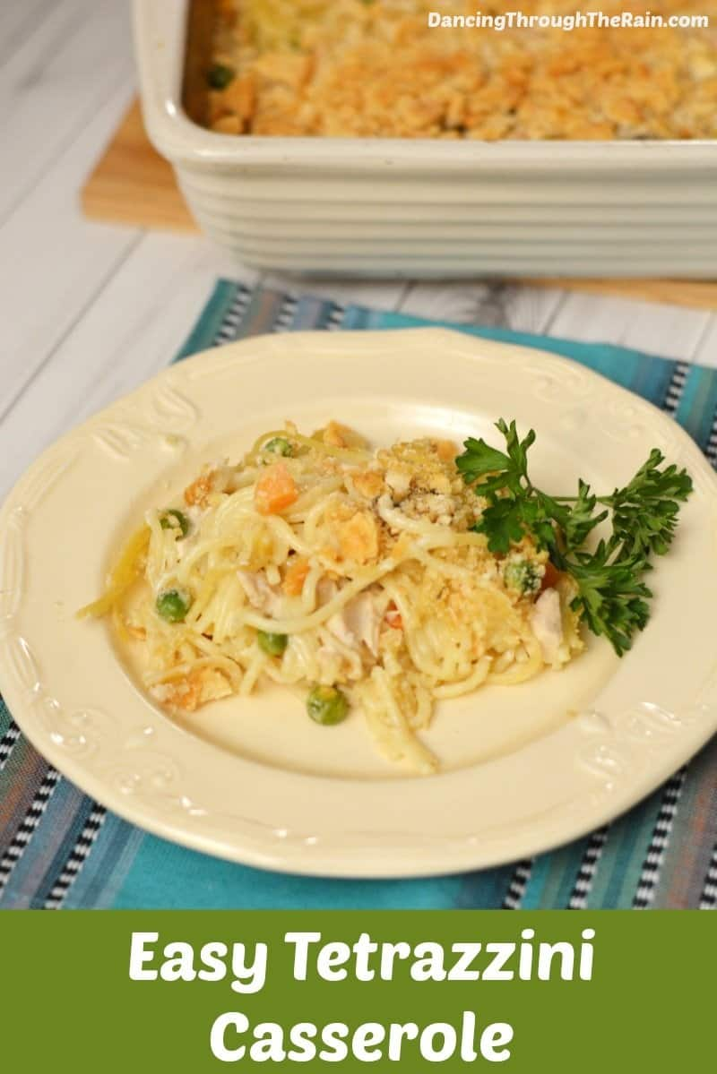 Easy Tetrazzini Casserole on a plate