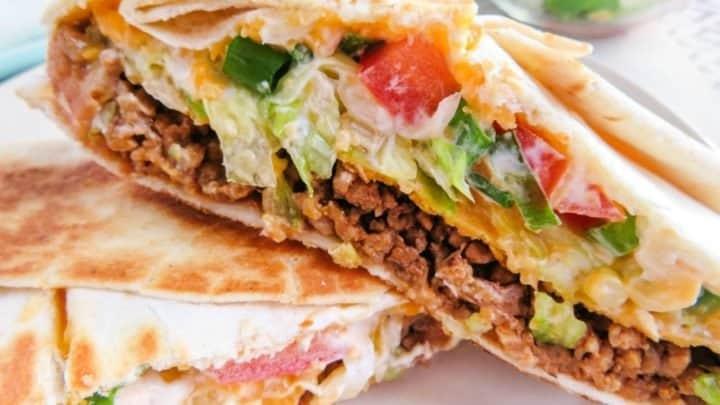 Copycat Taco Bell Crunchwrap Supreme