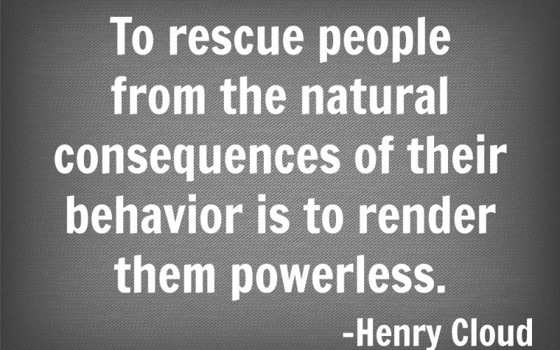 Stop Protecting People From The Natural Consequences Of Their Actions