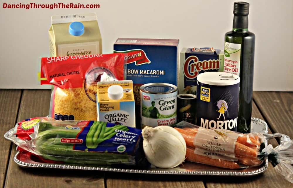 Ingredients to make Mac & Cheese Soup
