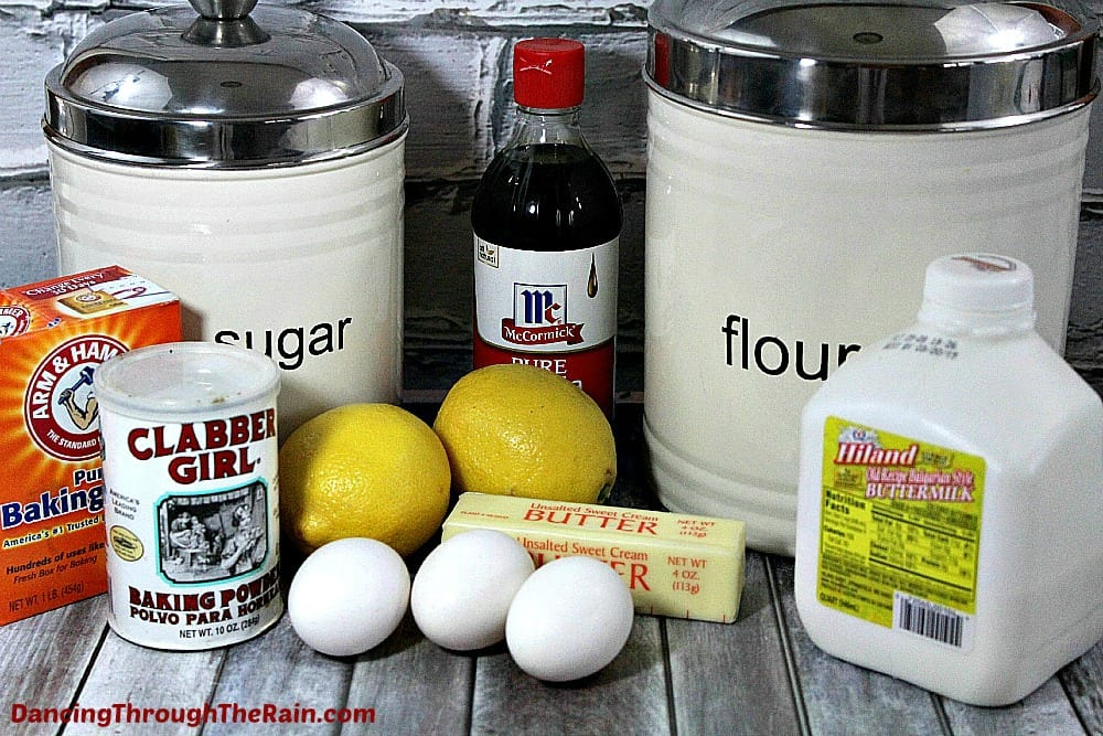 Ingredients for Strawberry Lemonade Cupcakes