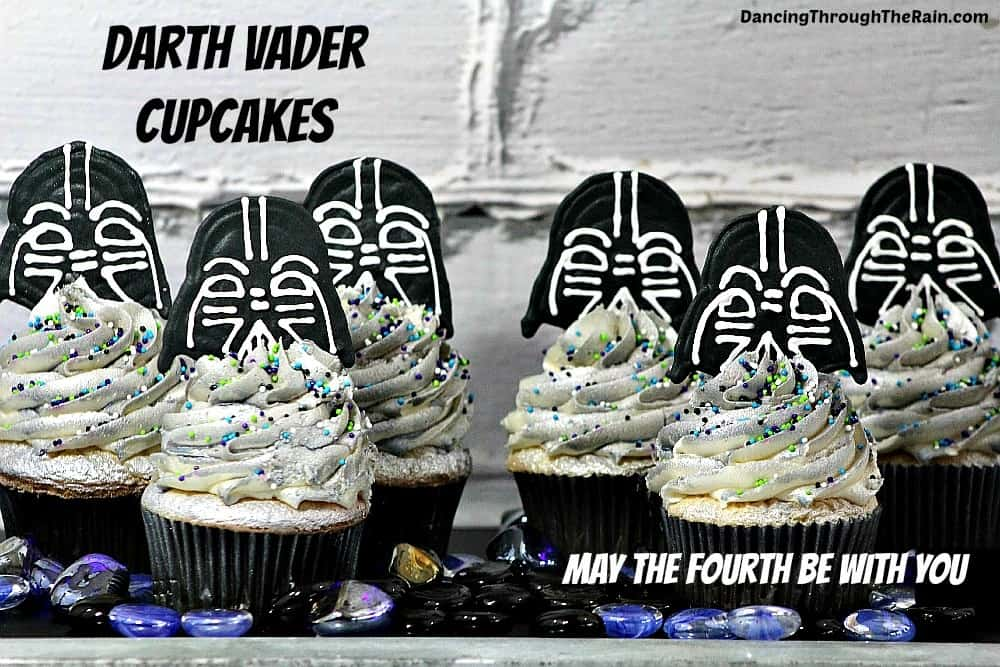 Darth Vader Cupcakes – May The Fourth Be With You