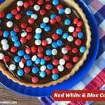 Red White & Blue M&M's Cookie Tart