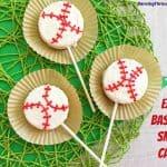 Semi-Homemade Baseball Cakes On A Stick