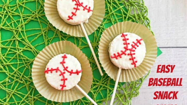 Baseball Snack Cakes On A Stick