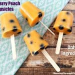 Blueberry Peach Popsicles (Only 2 Ingredients!)
