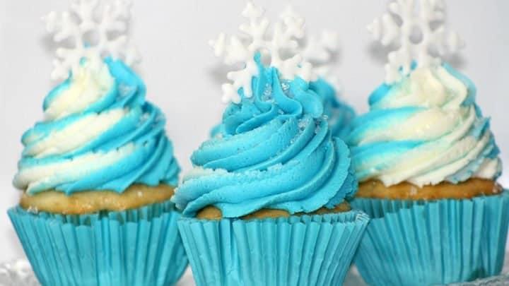 Three Frozen Cupcakes