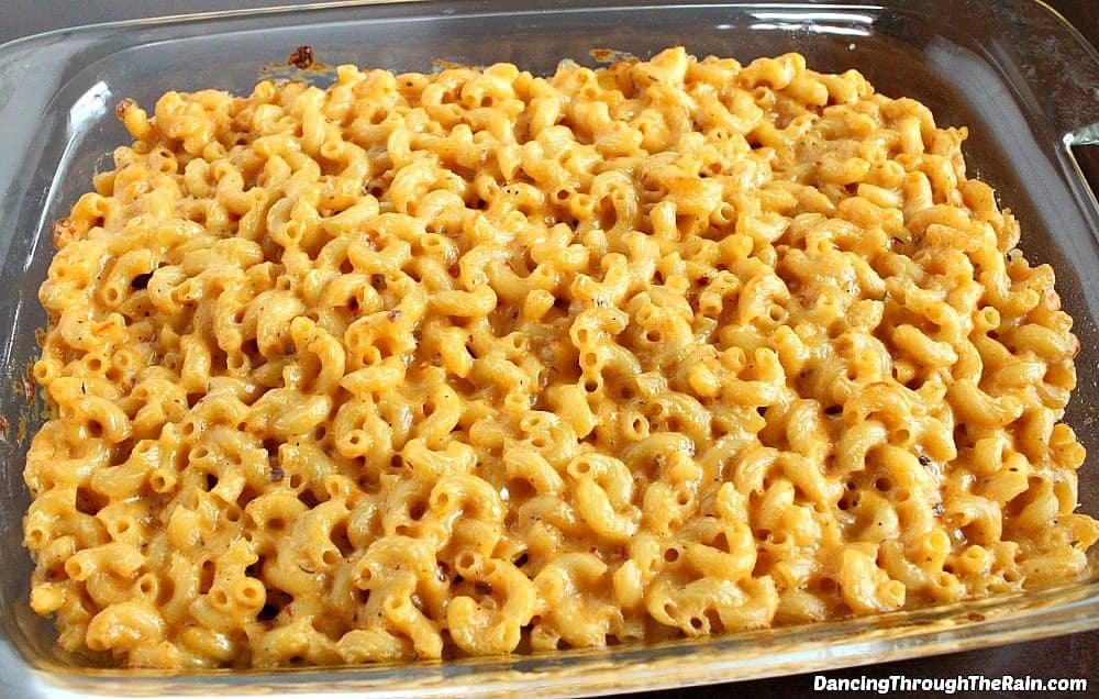 Spicy Mac and Cheese in a baking dish