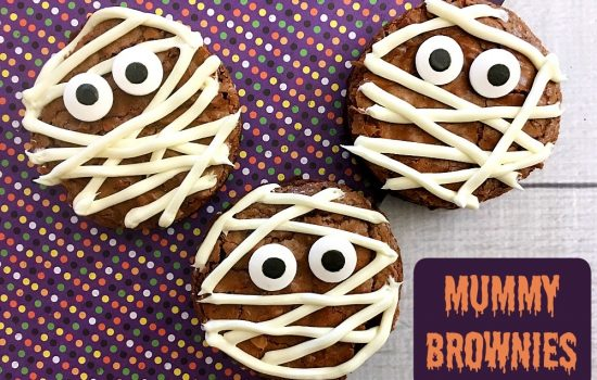Halloween Mummy Brownies