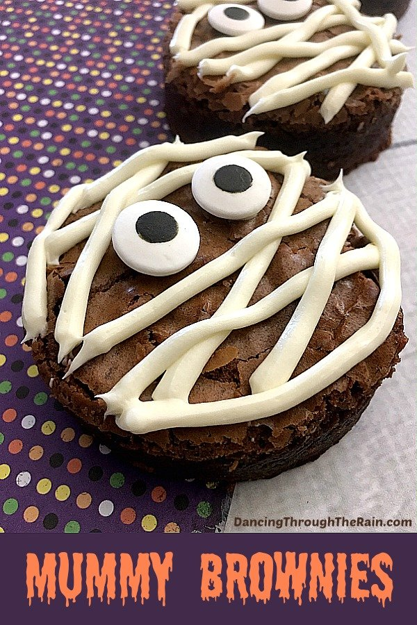 These Halloween Mummy Brownies are spooky and delicious! Even better, they're incredibly easy! A perfect Halloween dessert for your next party!