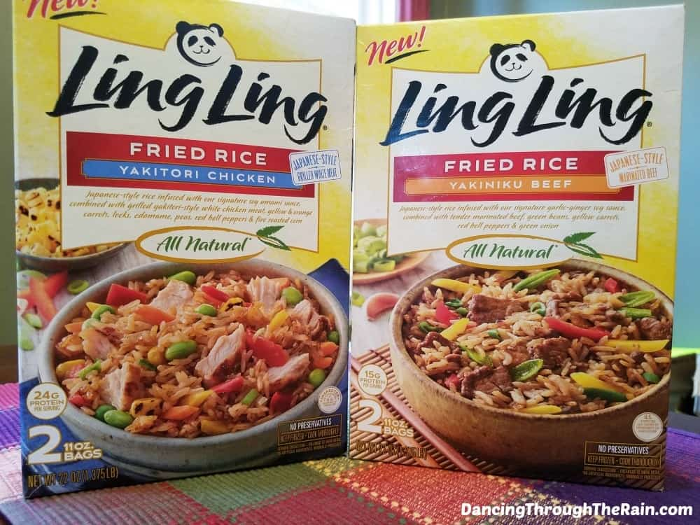 Ling Ling Fried Rice boxes