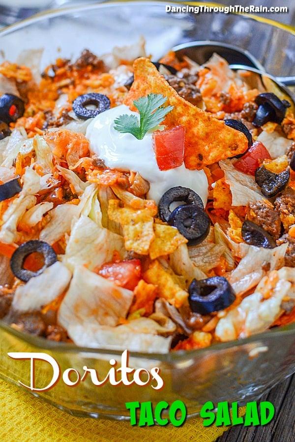 Dorito Taco Salad closeup photo