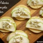 Apple Polenta Gorgonzola Bites