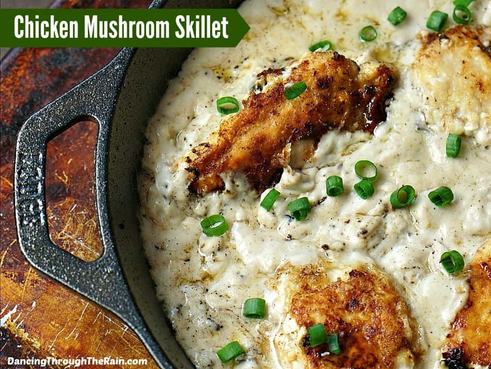 Skillet Chicken With Mushrooms