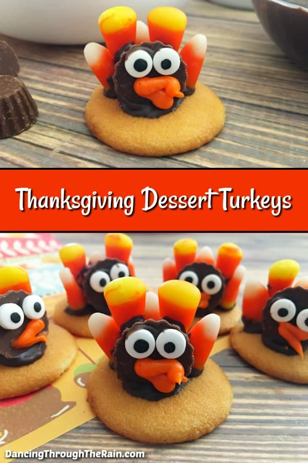 These cute Thanksgiving desserts are going to be the hit of your party! Everyone loves Thanksgiving recipes that are made just for the holiday and these are really fun. No-bake desserts that the kids can make for you, you can make as many as you need so that there are enough for everyone! #thanksgiving #desserts #cute #turkey #nobake