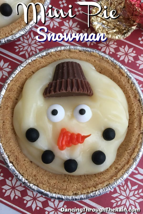 Snowman Pudding Pie