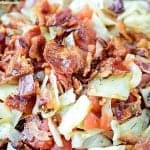 Tomato, Bacon And Cabbage Sauté