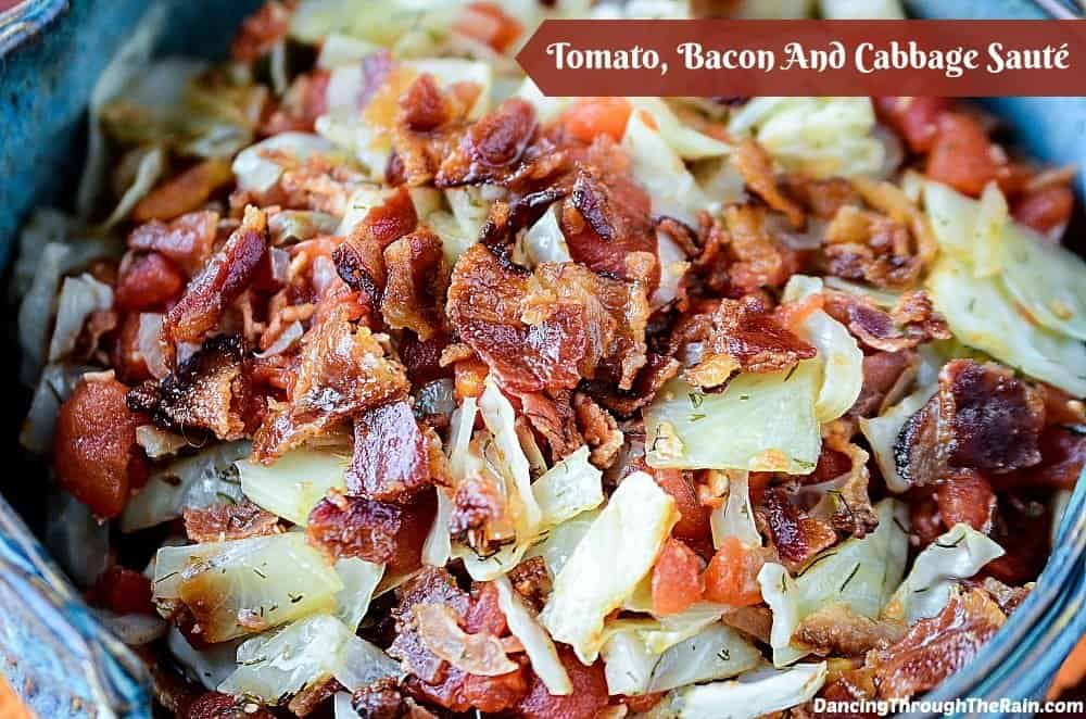 Tomato, Bacon, And Cabbage Saute