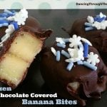 Frozen Chocolate Covered Banana Bites