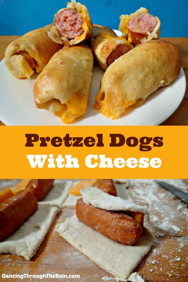 Pretzel Dogs with Cheese