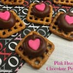 Pink Heart Chocolate Pretzels