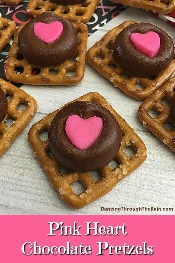 Pink Heart Chocolate Pretzels