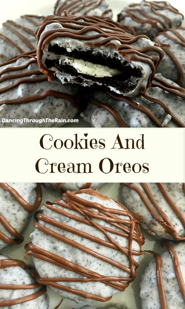 If you're looking for cookies and cream cookies recipes, you've come to the right place! These Cookies and Cream Oreos are an easy dessert and delicious!