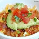 Easy Keto Breakfast Bowl With Avocado
