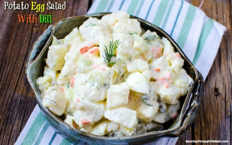 Potato Salad with Egg in a bowl