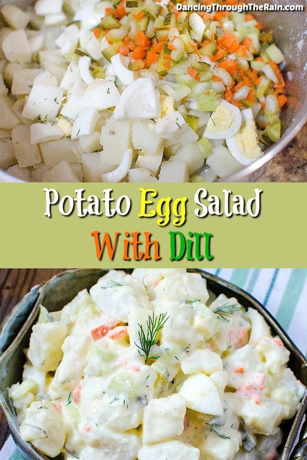 If you're looking for an easy potato salad recipe, my potato salad with egg dish is going to be perfect! One of the easy side dishes for any gathering!