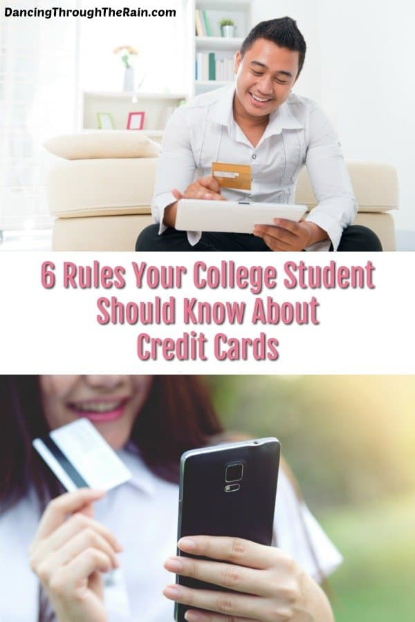 Student credit card tips are so very important when you are sending your child off to college. Knowing how and when to use them is a skill. Let this list give you a framework for teaching!