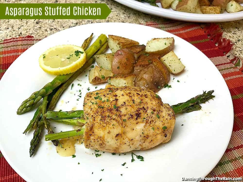 As stuffed chicken recipes go, this Asparagus Stuffed Chicken is going to be a favorite! Placing your vegetable side dish inside the main course makes both a little more fun!