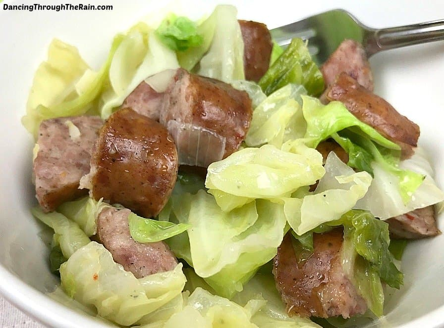 This cabbage and sausage recipe is a fantastic and easy dinner dish, but it is also keto, paleo, dairy free, gluten free and Atkins diet friendly! Get your protein and your vegetables all in one bowl!