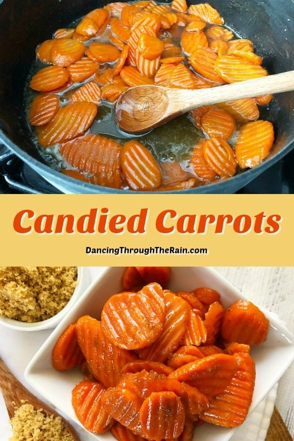 As carrot recipes go, these Candied Carrots are one of the easy side dishes to make! With only three ingredients, even the kids will love them!