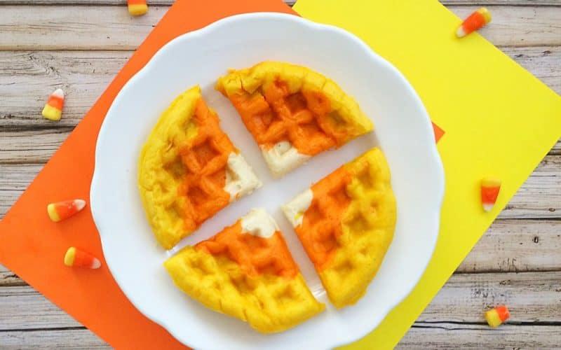 Halloween Breakfast Waffles