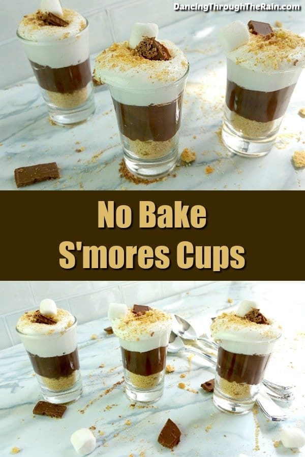 No bake desserts are those that are excellent to keep in your back pocket for last minute treats. With only five ingredients, these s'mores cups are both delicious and easy desserts to make!
