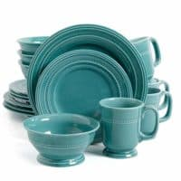 Gibson Elite 102123.16RM Barberware 16 Piece Dinnerware Set, Turquoise