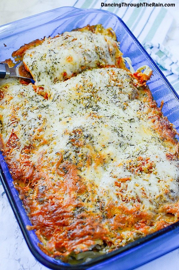 If you are looking for an easy Chicken Parmesan recipe, go for this Chicken Parmesan Casserole! As delicious chicken recipes go, this is a crowd pleaser and sure to become a family favorite!
