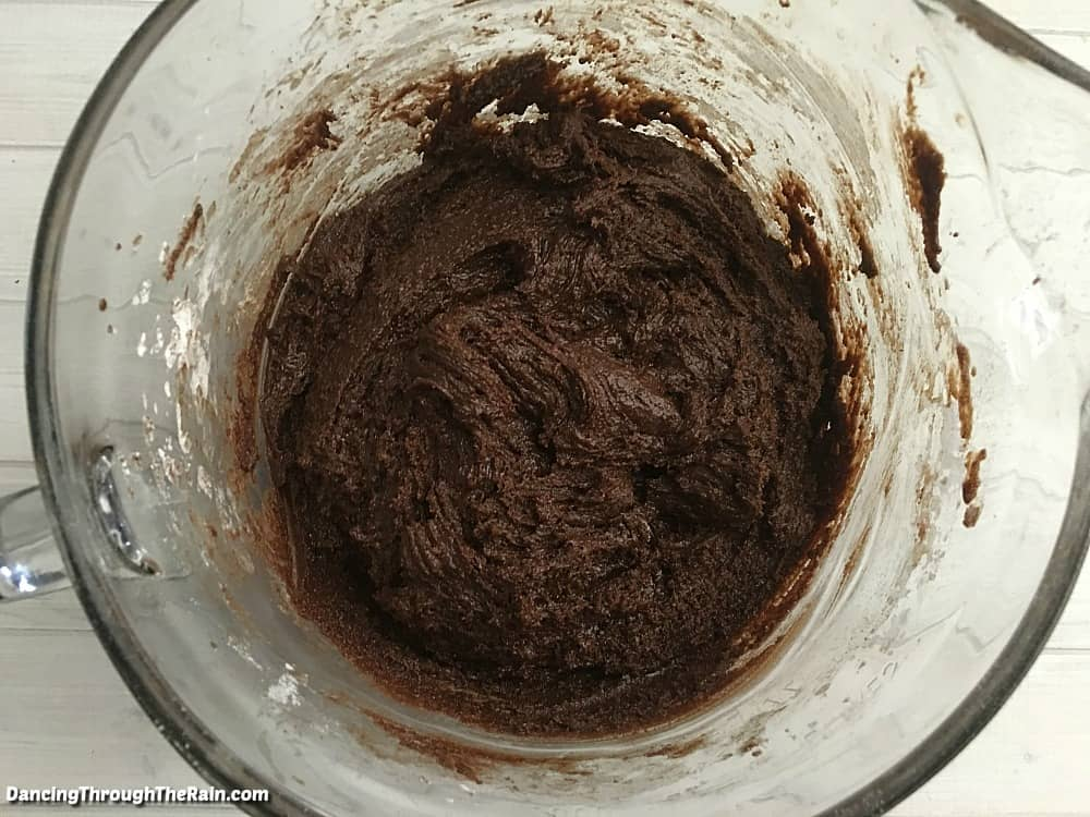 Cookie ingredients mixed together
