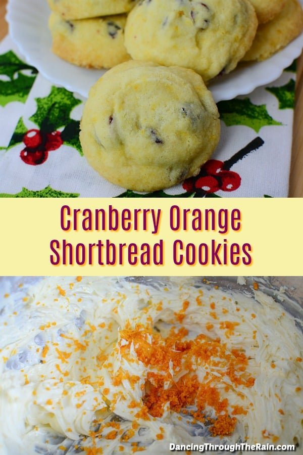 Among dessert recipes, these Cranberry Orange Shortbread Cookies are going to be different from so many! When looking for bake sale ideas or holiday desserts, this is a fantastic cookie option! #desserts #dessertrecipes #cookies #cookierecipes #cranberry #cranberries #orange