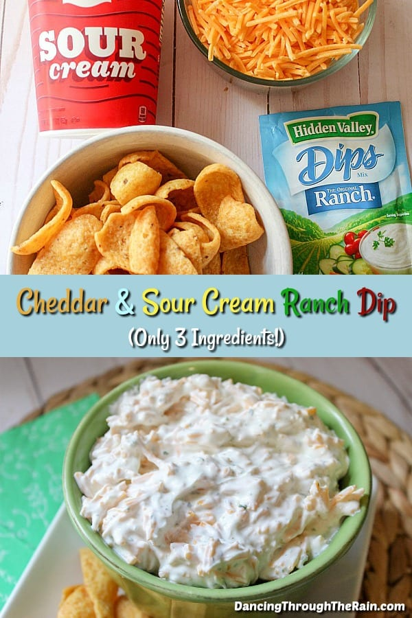 Cheddar and Sour Cream Ranch Dip